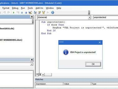 Unlock password-protected Excel VBA Project