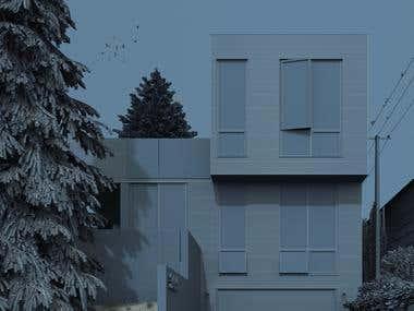 Modern house 3057