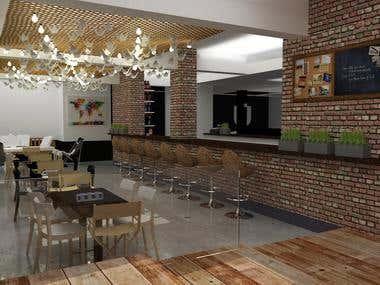 Bar design in La Plata city for the Universitary Sport Club