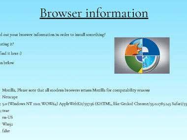 Browser Information App