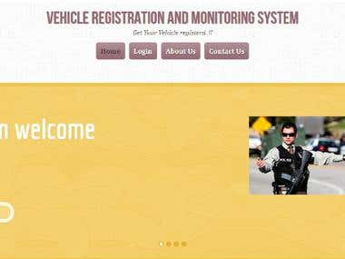 Vehicle Registration and monitoring System