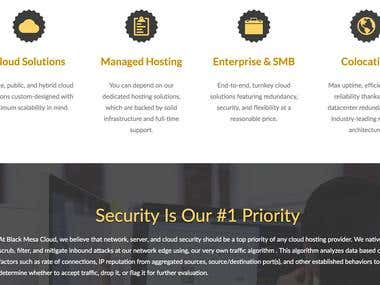 Website Design for Hosting Company Black Mesa Cloud