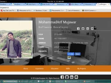 my personnel website