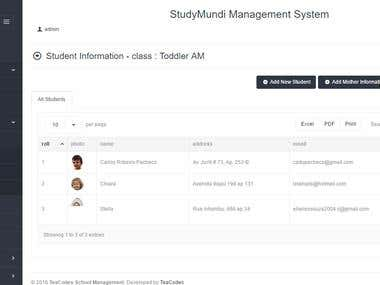 StudyMundi - School management system