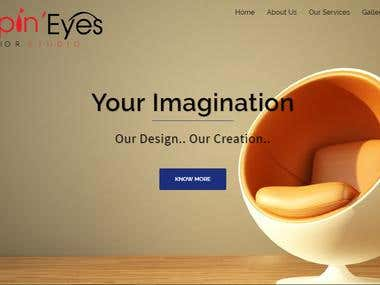 Web Designing for Poppin' Eyes Interior Studio