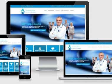 Multipage website for a gynecologist  doctor.