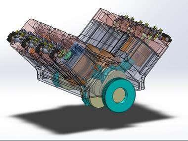 Car Engine V6