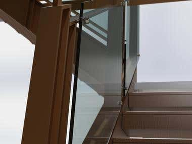Bespoke Bronze Staircase (3D Rendering)