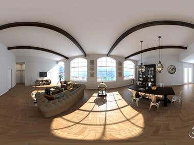 3D Interior 360 view / VR Cardboard