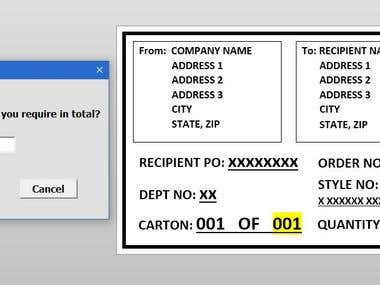 Label Generation using Word Template