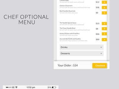 Hire a Chef Mobile Application