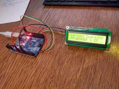 ARDUINO TWI  HD47780 PROJECT