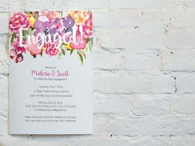 Invitation Design - Malerie and Scott