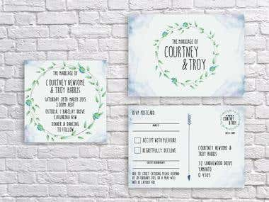 Invitation Design - Courtney and Troy