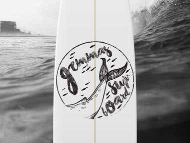Custom SUP Board Graphics