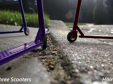 Three Scooters