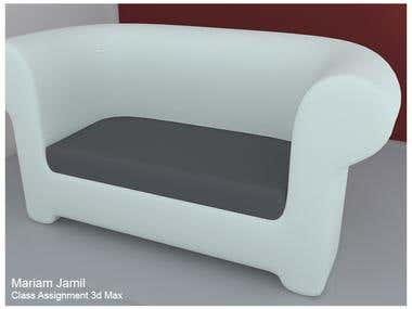 Single Couch - 3D Modeling