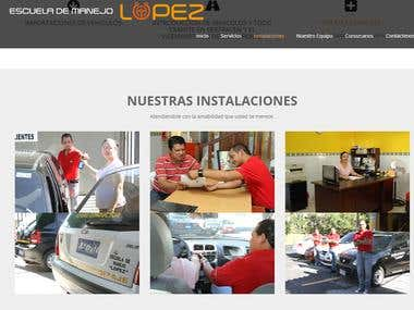 Driving school Website www.escuelamanejolopez.com