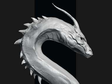 3d Sculpting - Dragon