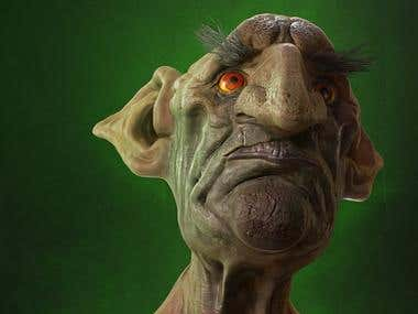 3d sculpting - Goblin(Creature Design)