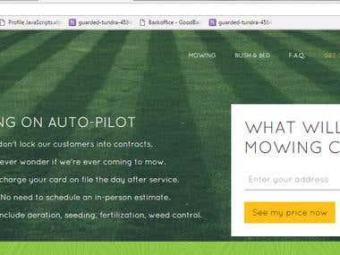 Lawn Mowing Portal