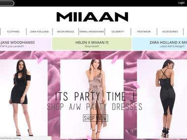 Miiaaan online cloth Shopping with anddroid & IOS