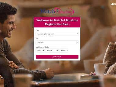 Match4muslim Online Dating Web with Android & IOS