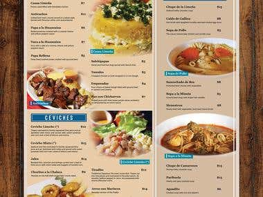 Lima Criolla Menu Design