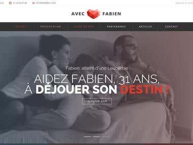 Tous avec Fabien – Site Internet