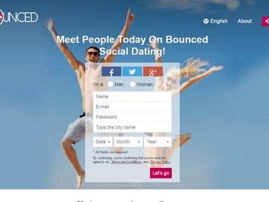 Bounced Online Dating Website with android & IOS