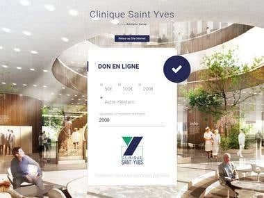 Clinique Saint Yves – Page de dons