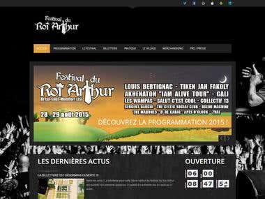 Festival du Roi Arthur – Site Internet 2015