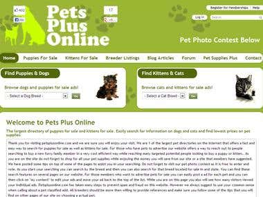 Online shop for puppies and kittens