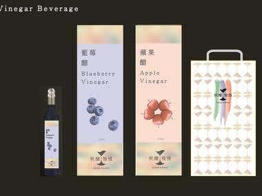 Vinegar beverage package design