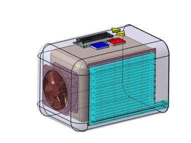 A miniature cooling system based on thermoelectric cooling