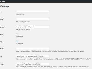 WordPress Custom Online Booking Plugin