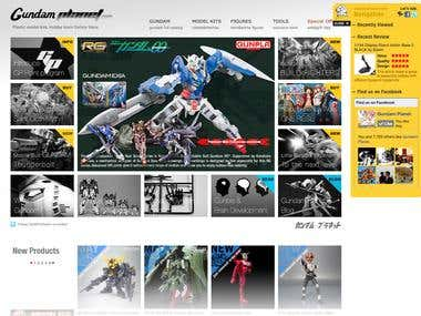 Ecommerce : GundamPlanet.com