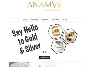 Anamve Ecommerce Web Site