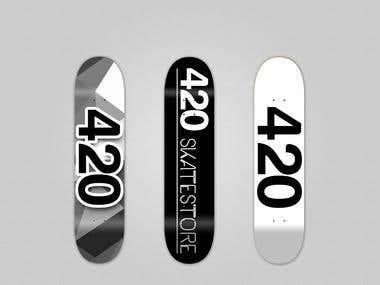 Skateboard designs x 3