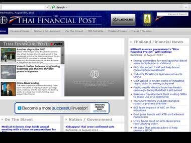 SEO fo Thai Financial Post