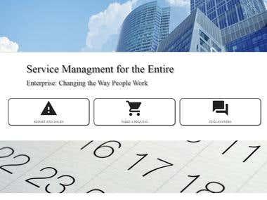 Enterprise homepage
