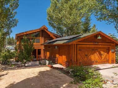 Lakefront/View Log Cabin--Open Flow, Gourmet Kitchen, Expans