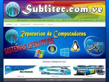 Diseño de página web para una empresa.