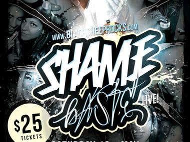 ShameBaste Concert Flyer