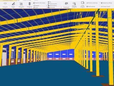 3D Steel & Concrete detailing