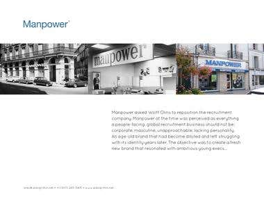 Manpower Rebrand - Logo Design, Corporate Identity, Branding
