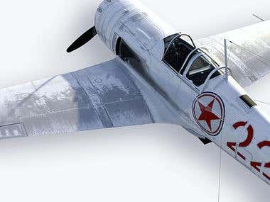 Soviet fighter. La-9/for game