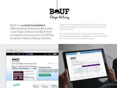 BOUF.com - responsive product design, build, UX/UI design
