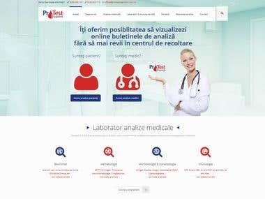 Presentation website for medical clinic Protest Diagnostic