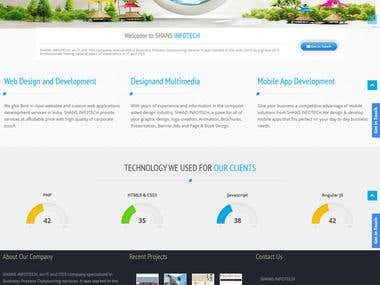 Website Design ( Using WordPress ) - SHANS INFOTECH